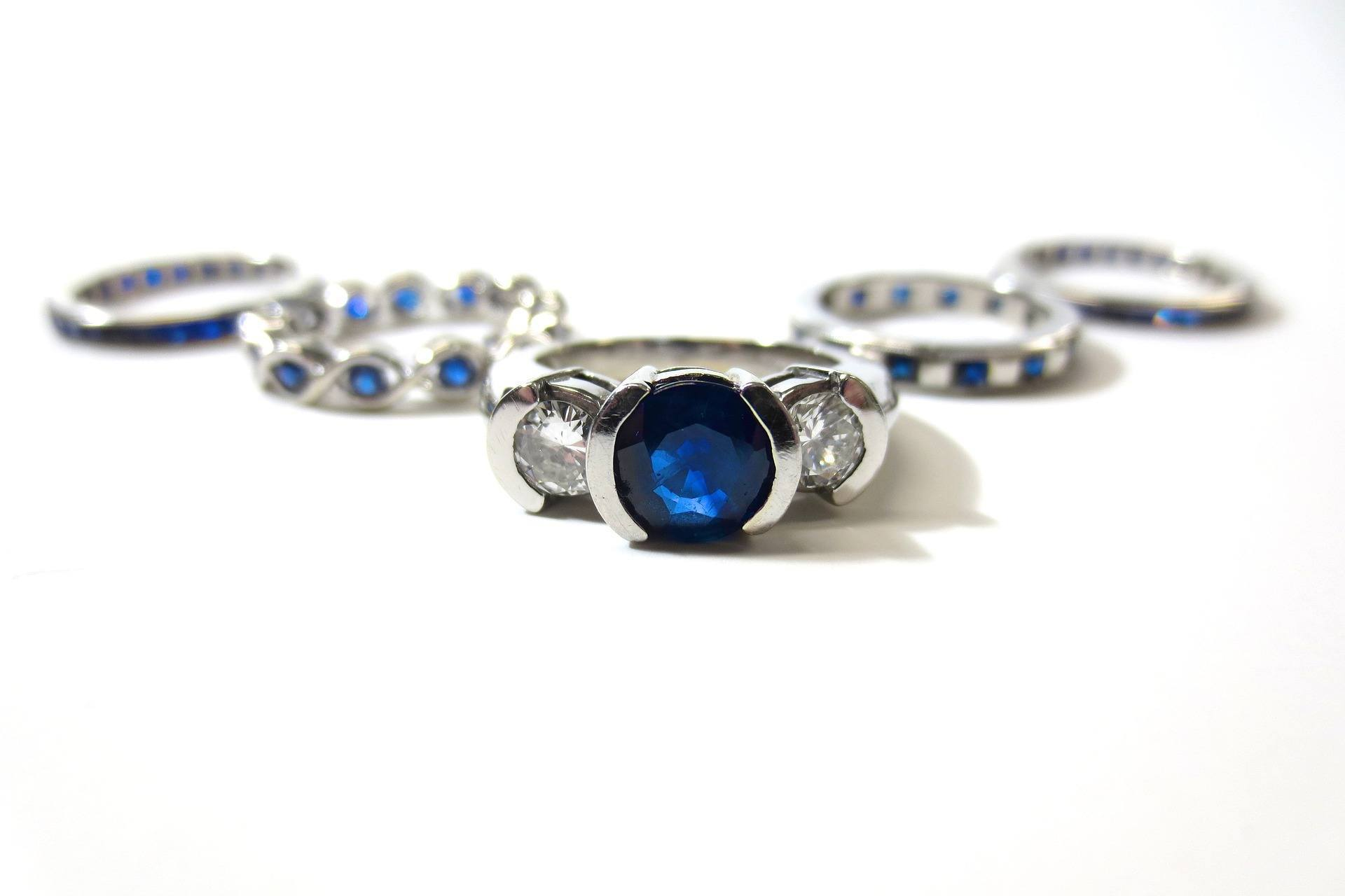 promise rings: sapphire